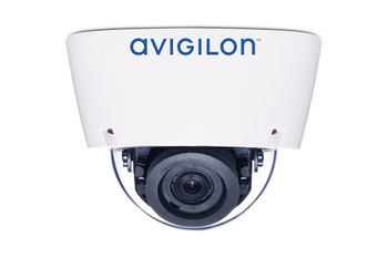 Avigilon H5A dome camera with IR illuminators (side view)